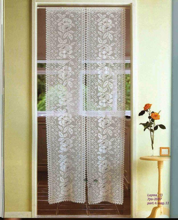 PATRONES GRATIS DE CROCHET: Patrón de unas lindas cortinas a crochet