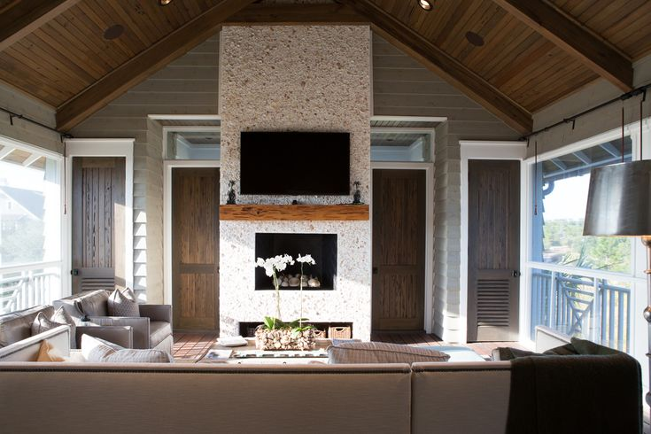 Florida House Fireplace
