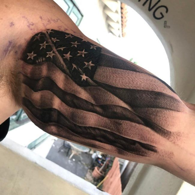 Top 60 Best American Flag Tattoos For Men: Best 25+ American Flag Tattoos Ideas On Pinterest