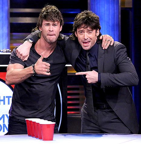 Chris Hemsworth, Hugh Jackman Play Musical Beers With Jimmy Fallon - Us Weekly