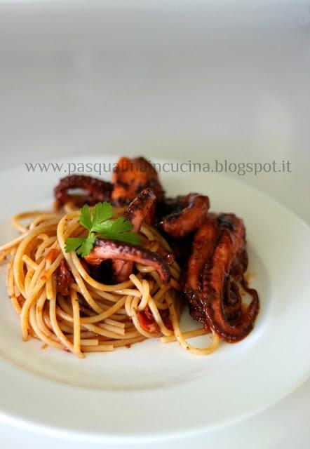 """Pasqualina in cucina: Gli spaghetti con i """"purpetielli"""" #recipeitaly"""