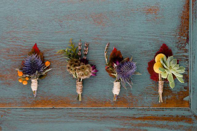 Button Holes - a mix of native Australian and delicate seasonal flowers http://wildblossom.com.au/weddings/  | Hilary Cam Photography