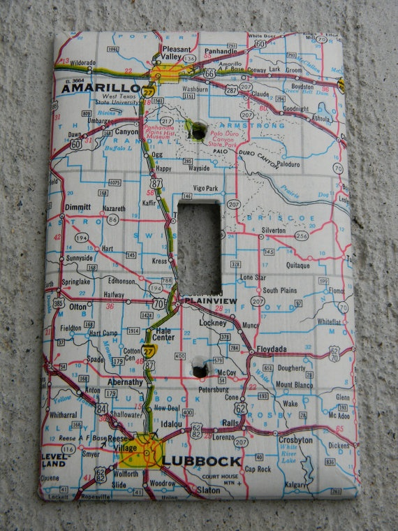 Again, another map project.. a map lightswitch cover