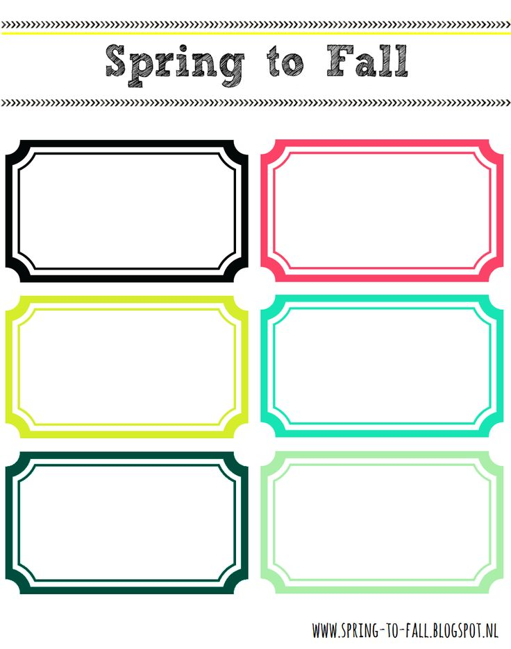 Spring To Fall Colourful Labels Free Printable (for storage jars, boxes, notebooks, etc.)