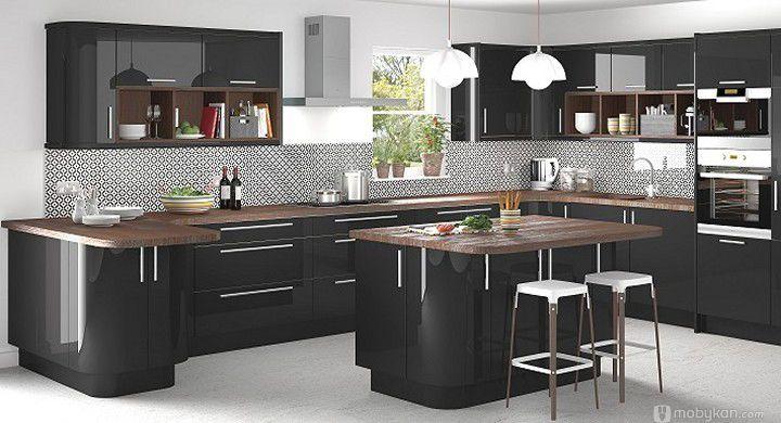 صور مطابخ حديثه و اشكال مطابخ مودرن و مميزه من موبيكان Curved Kitchen Modern Kitchen Cabinet Design Kitchen Cabinet Design