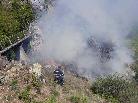 Ultimele informații despre incendiul de vegetație de la Cetatea Poenari