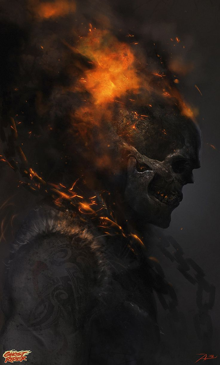Hellfire Of A Ride, HD Superheroes, 4k Wallpapers, Images ...  |Ghost Rider Digital Painting Photoshop