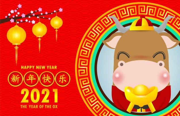 According To The Chinese Zodiac 2021 Is The Year Of The Ox The Chinese New Year Wi Happy New Year Wallpaper Happy New Year Fireworks Chinese New Year Holiday