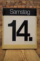 Vintage Wandkalender 70er XXL ewiger Kalender Space-Age Design 70s Mid Century