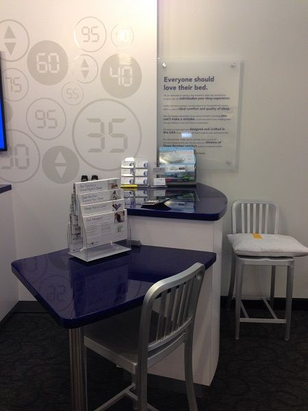 Retail-countertops-cash wrap-avonite-studio-cobalt glass-8485-blue