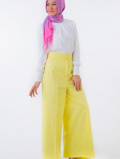 The Kendira Pantolon Etek P1995-5 Sarı