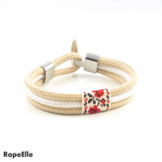Ethnic bracelet, Elegant bracelet,Rope bracelet,Paracord,Sale, Nautical bracelet,Gift, Woman Bracelet, Jewelry, Stainless steel bracelet