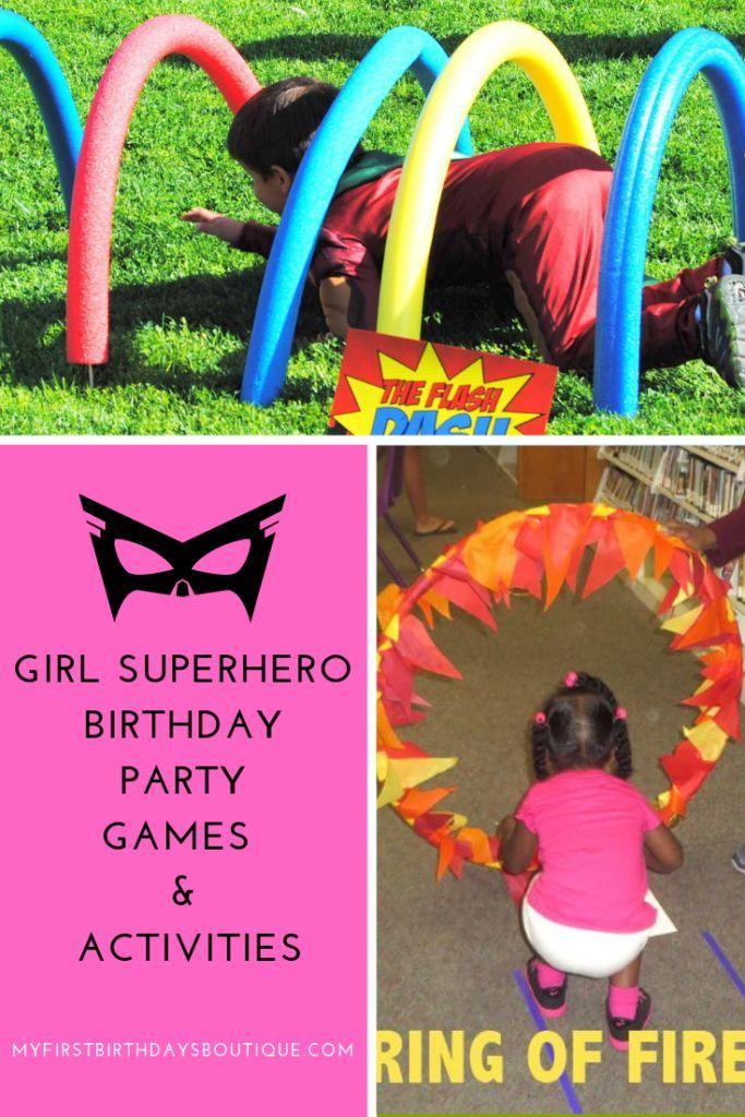girl superhero birthday party, superhero party games, superhero birthday activit…