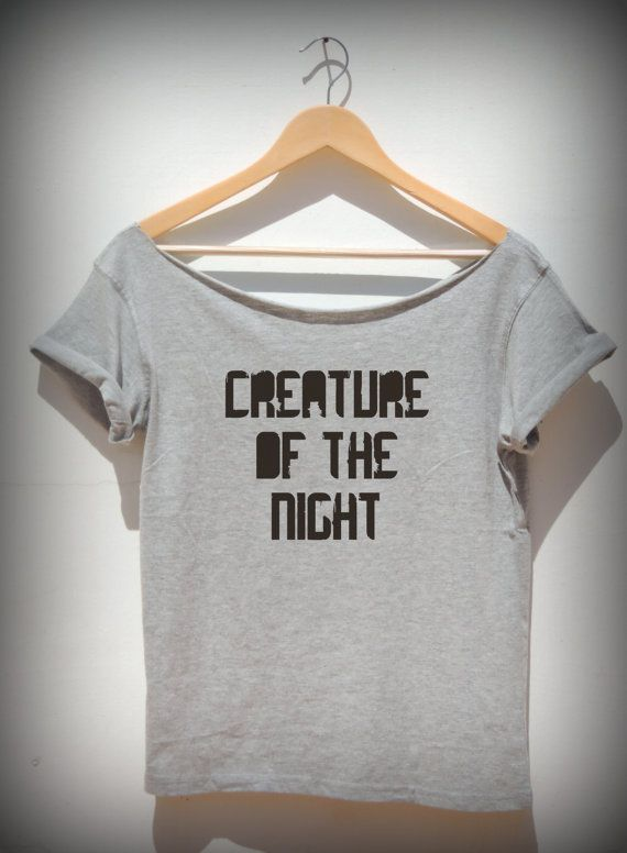 Creature Of The Night women's slouchy sexy t shirt by FavoriTee