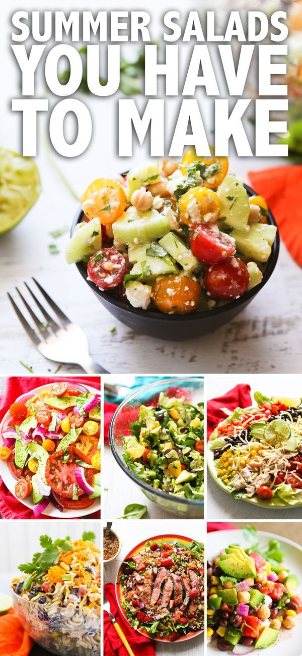 Roundup of the Best Summer Salads! Add these delicious salads to your summer party list.