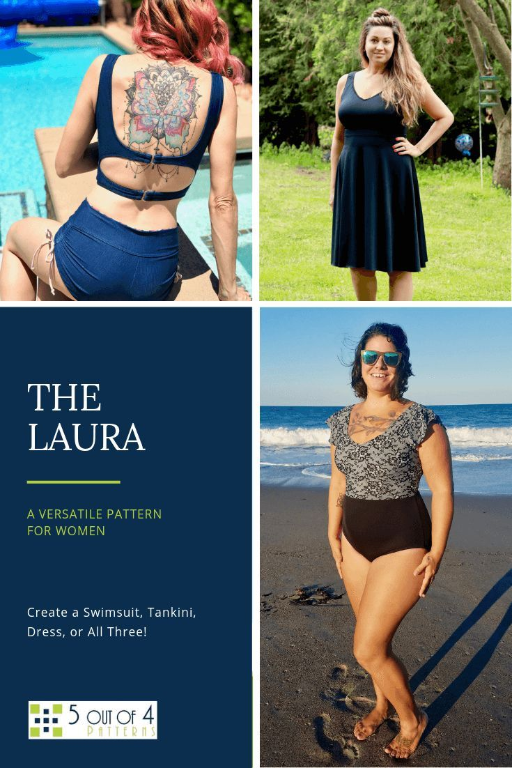 Laura Swimsuit, Tankini, and Dress