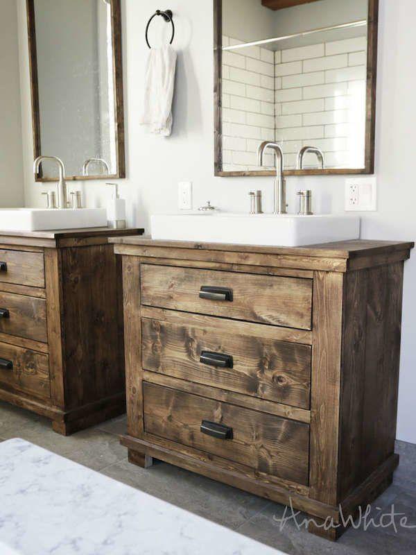 Make Your Own Vanity 12 Inventive Bathroom Rehabs Rustic Bathroom Vanity Diy Bathroom Vanity Remodel Rustic Bathroom Vanities