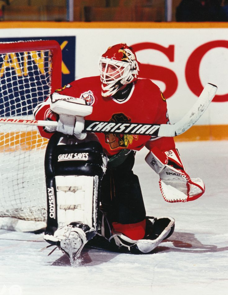 Ed Belfour - Chicago Black Hawks - NHL Hockey Pictures & Autographs