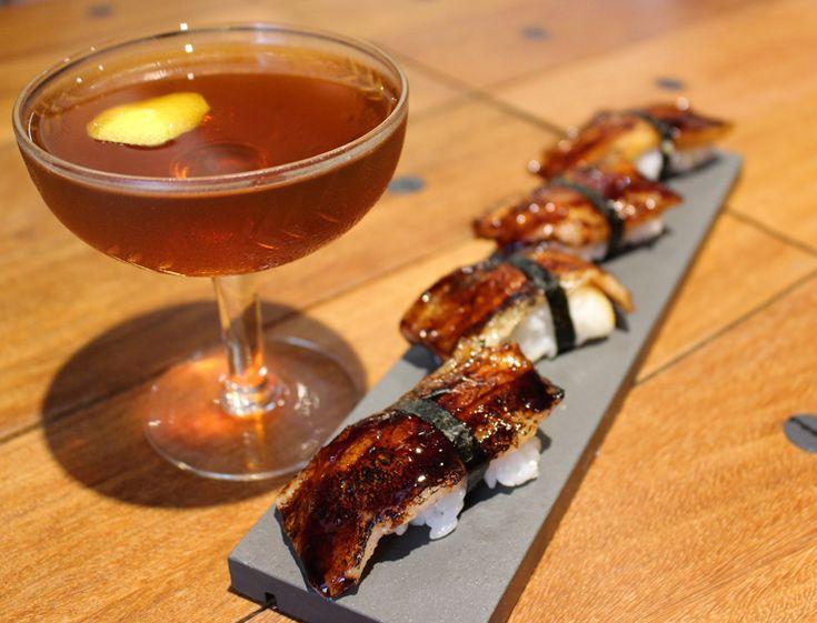 Untuoso Sushi de papada de porco com tucupi preto (R$ 29) da A Casa do Porco Bar, em São Paulo