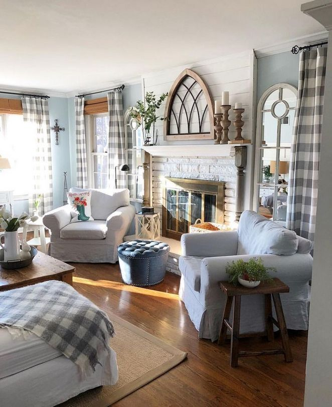 31 The Basics Of Farmhouse Curtains Living Room Farm House That You Can Benefit From Farm House Living Room Blue Living Room Color Farmhouse Decor Living Room