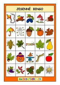 Jesenné bingo pre deti