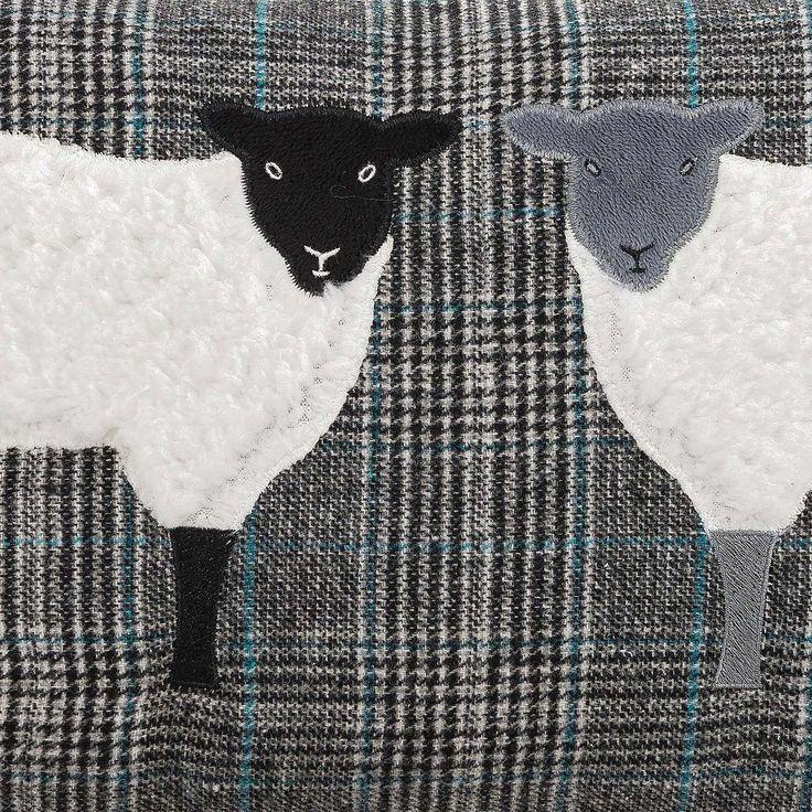 Sheep Grey Cushion | Dunelm