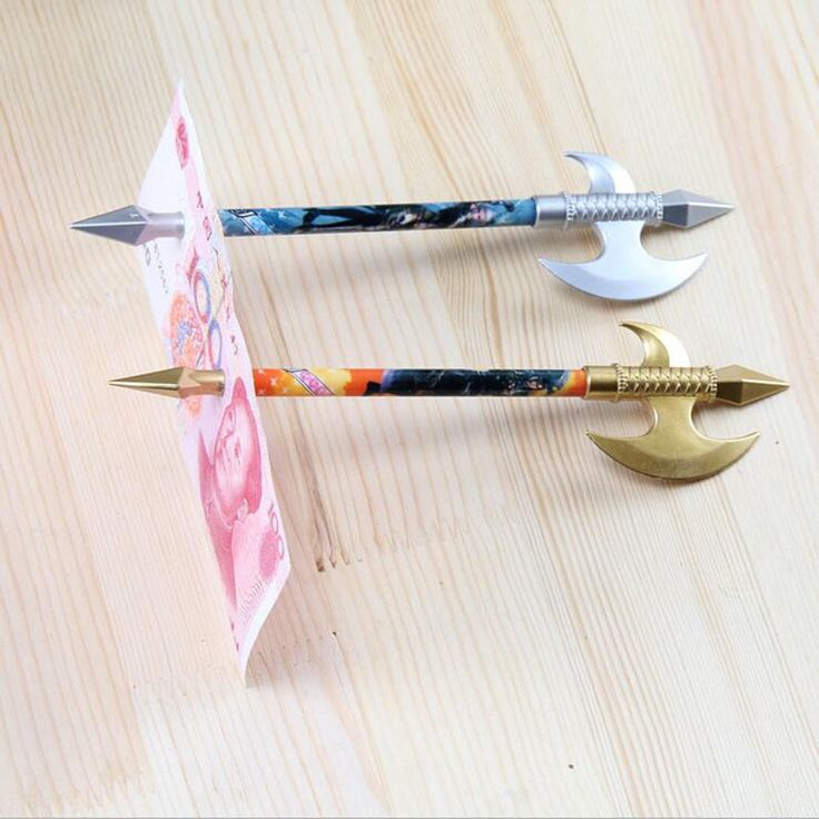 Axe Pattern Close-up Magic Gel Pen Penetration Through Paper Dollar Bill Money Trick Tool  #Affiliate