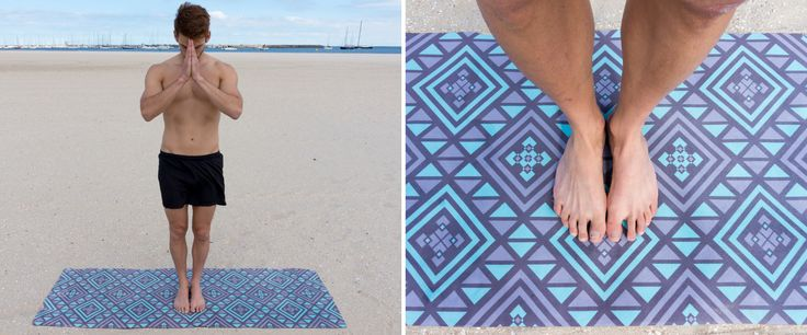 Use the geometric pattern as an alignment guide
