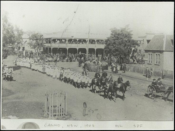 Casino, 1903 - marching off Barker Street into Walker Street