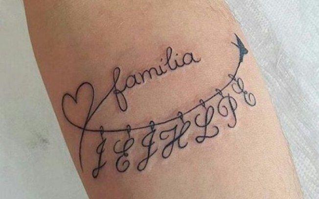As letras representam as iniciais das crianças. #beautytatoos   – Tattoos