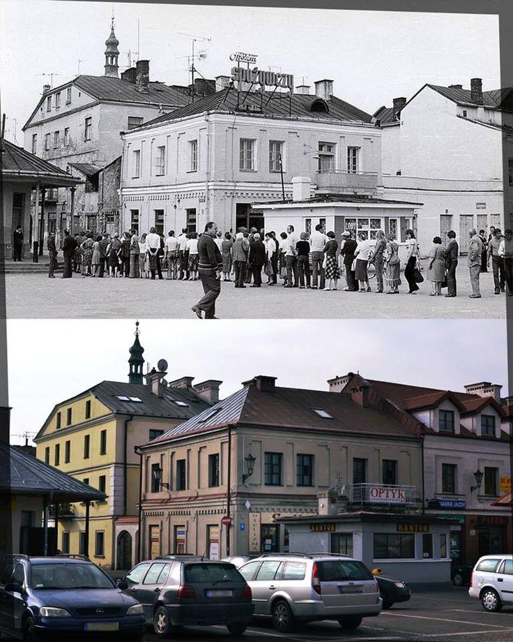 Kolejka do spożywczego na Placu Stefanidesa, poł. l. 60-tych. Autor: Józef Duda
