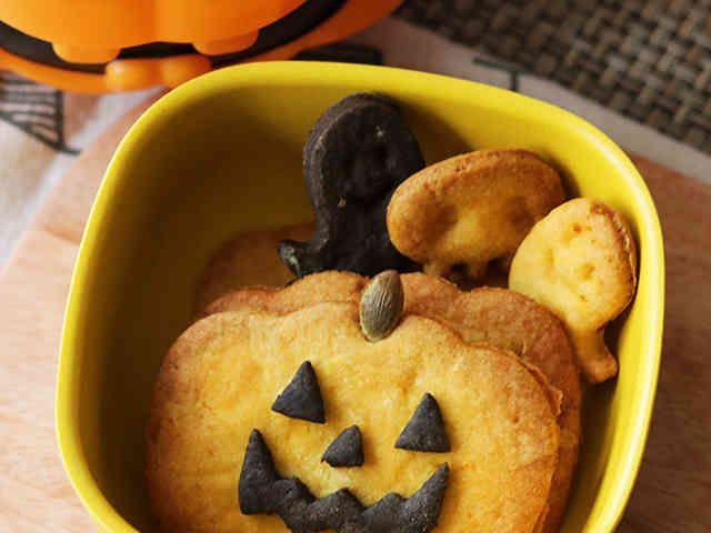 ハロウィンに かぼちゃクッキー(卵なし)の画像