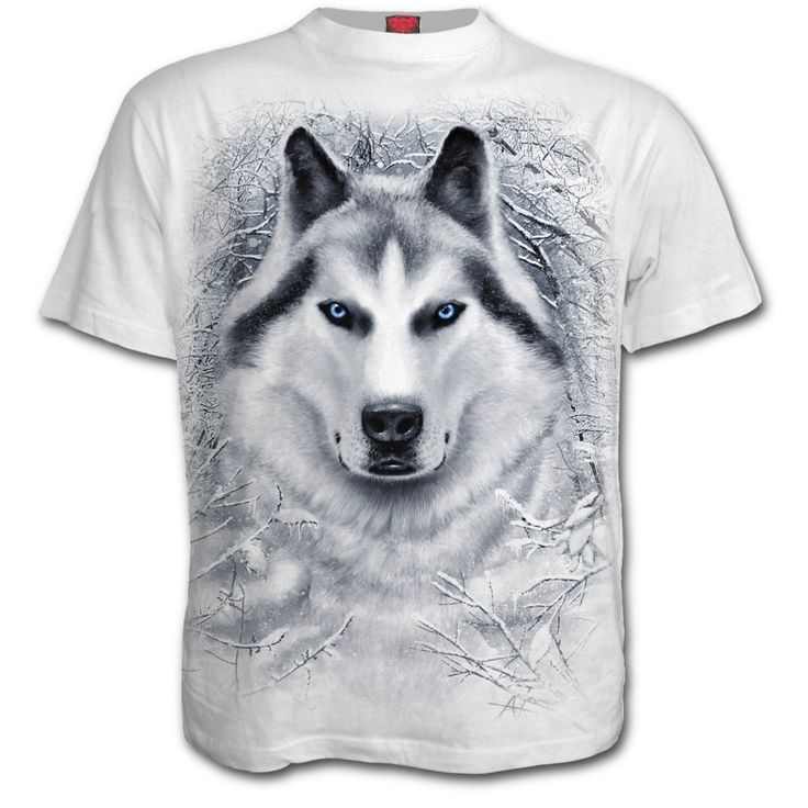 Mens WHITE WOLF T-Shirt White Shop Online From Spiral Direct, Gothic Clothing, UK