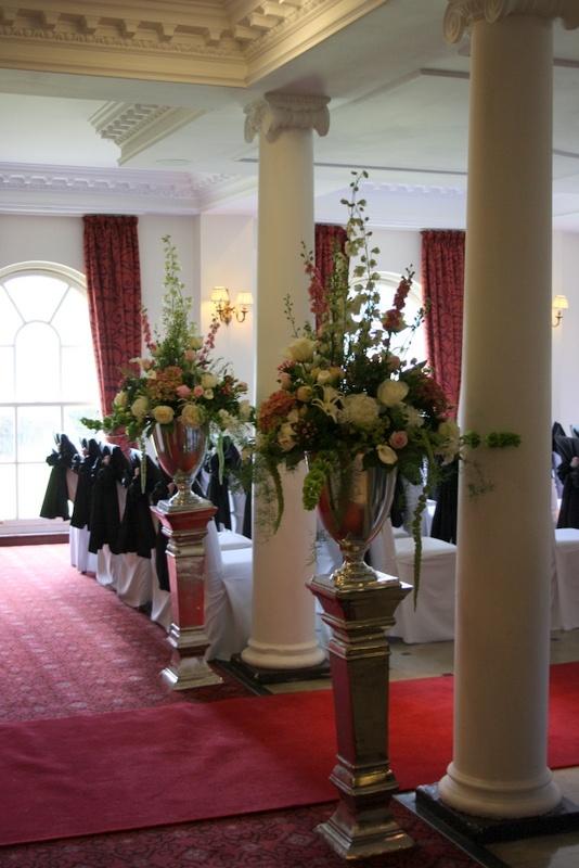 Flower Design Events Ceremony Pedestals Wedding Ideas