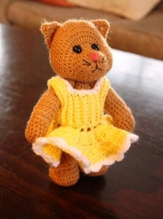 And a Crochet Cat named Daisy by AfricanDaisyCrochet on Etsy, $28.00