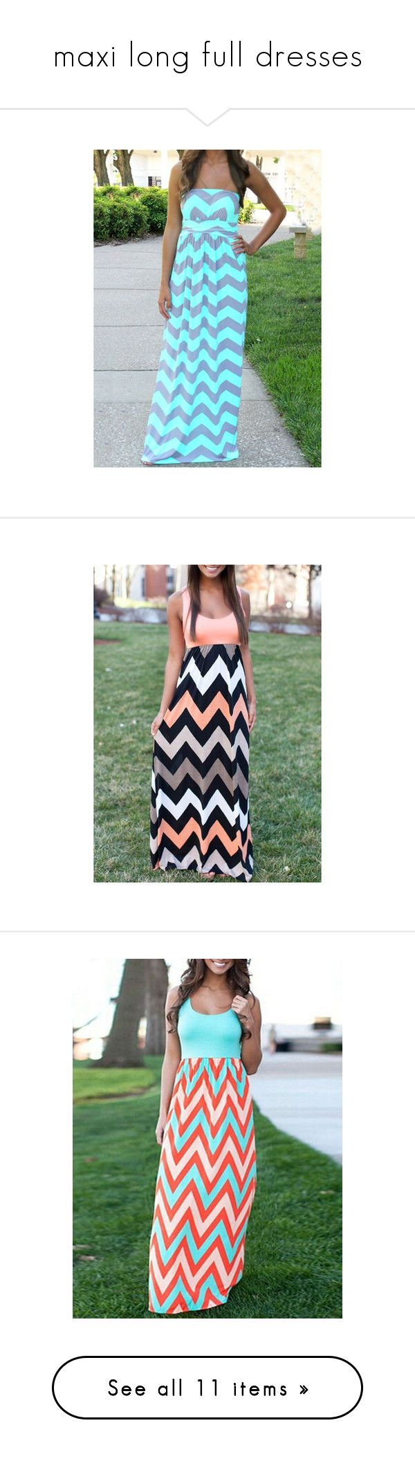"""""""maxi long full dresses"""" by alexuspeacock1 ❤ liked on Polyvore featuring dresses, multi color, chevron maxi dress, boho dresses, striped maxi dresses, print maxi dress, beach dresses, tank maxi dresses, multi color maxi dress and chevron print dress"""