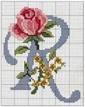 Мобильный LiveInternet Вышивание алфавита с розами | Natashaallmaz - Дневник Natashaallmaz |