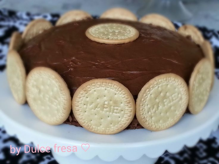 Dulce fresa: Maria cookies chocolate cake