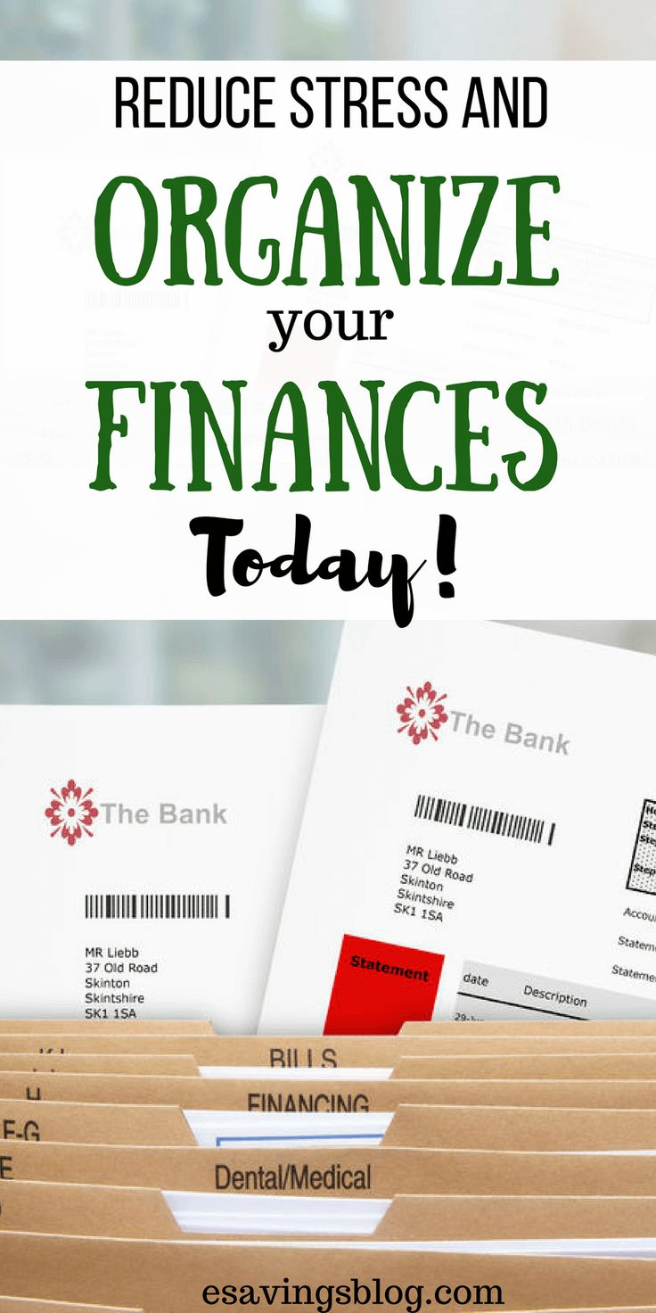 Feeling stressed with your finances? Organize your finances and reduce stress by being able to find what you need when you need it! #finance #organize