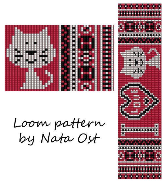 Hey, j'ai trouvé ce super article sur Etsy, chez https://www.etsy.com/fr/listing/249454474/beading-loom-pattern-bracelet-i-love-cat