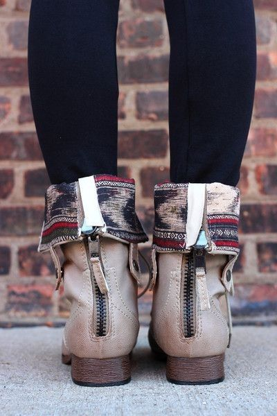 Love the tribal print boots
