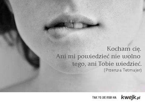 Kazimierz Przerwa Tetmajer / *** (Kocham cię jeszcze... Ani mnie powiedzieć) / by kwejk.pl