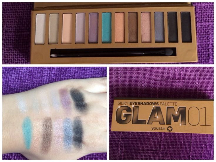 Youstar Glam palette from douglas/swatches