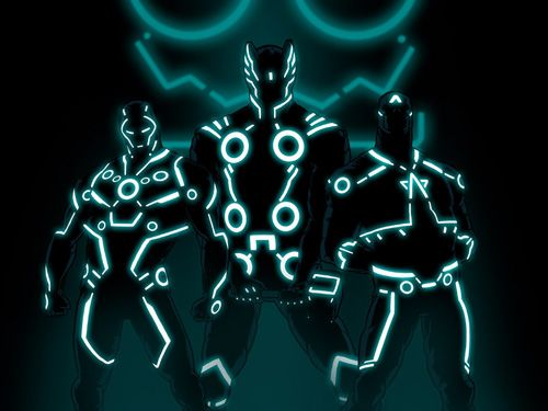 how to draw tron legacy characters