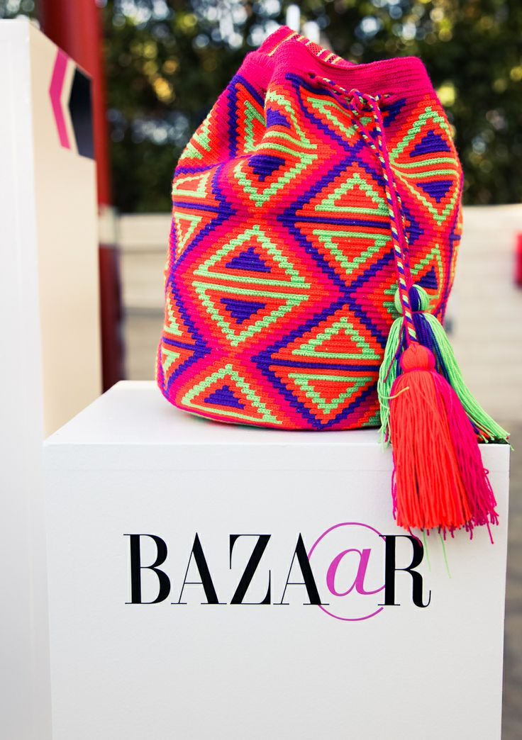 We're OBSESSED with Miss Mochila's boho chic bags! Enter now to win this bright bucket style: http://shop.harpersbazaar.com/miss-mochila-giveaway