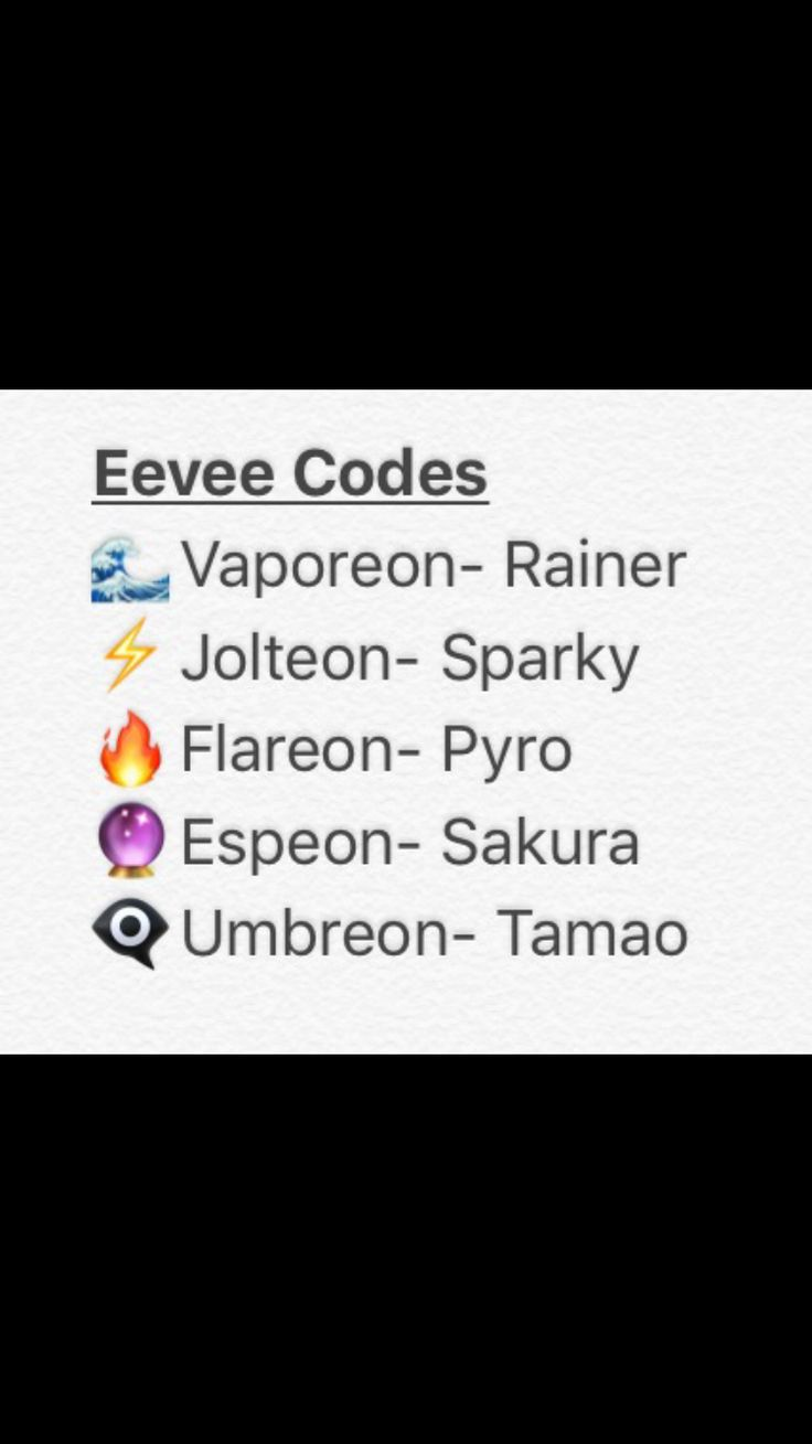 Change eevees name to desired evolution code close down