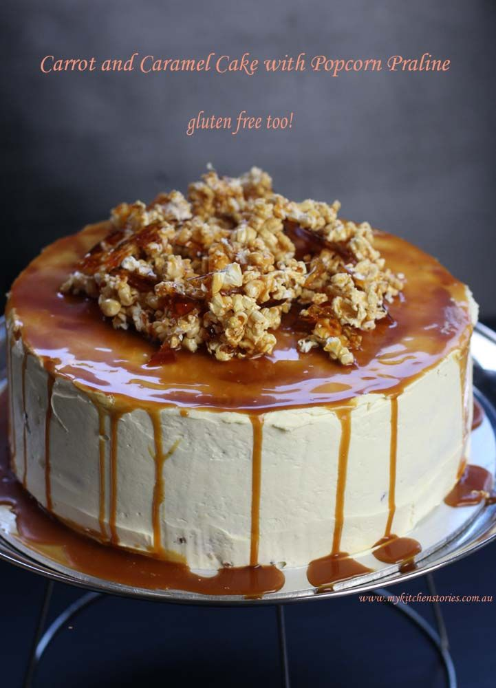 Carrot and Caramel Cake- gluten free cake with cream cheese icing. This is seriously good with a soft moist carrot cake recipe that is easy to make.