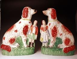 staffordshire dogs with little people