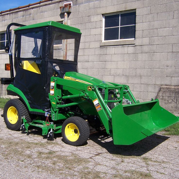 John Deere Lawn Tractor Enclosures : Hard top tractor cab enclosure for john deere e r