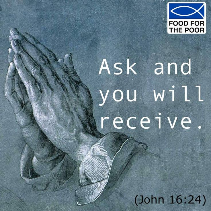 Ask and you will receive. (John 16:24) Receive inspiration delivered to your inbox Monday - Friday: http://www.foodforthepoor.org/verse #inspiration #verseoftheday #bibleverse #bible #prayer #prayeroftheday #foodforthepoor